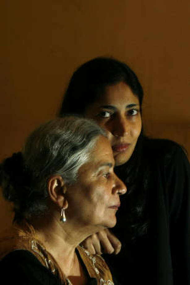Novelist Kiran Desai and her mother, Anita, also an author, were in Houston recently to read at the Wortham Center. Photo: JOHNNY HANSON, FOR THE CHRONICLE