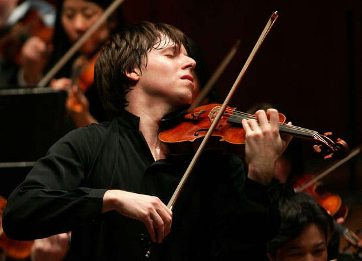 Joshua Bell performs with the Houston Symphony this weekend at Jones Hall, 615 Louisiana.