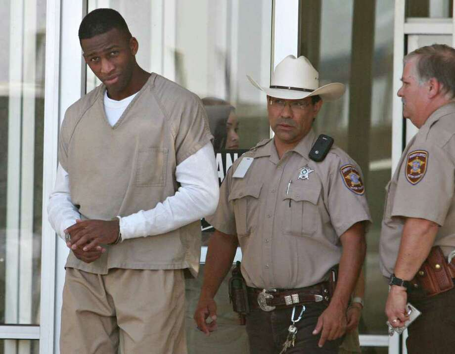 Guerdwich Montimer, who posed as a Permian High School sophomore in 2010, leaves the Ector County Courthouse in Odessa, Texas, on Wednesday, July 27, 2011. (AP Photo/Odessa American,  Heather Leiphart) MANDATORY CREDIT Photo: Heather Leiphart, MBR / Odessa American