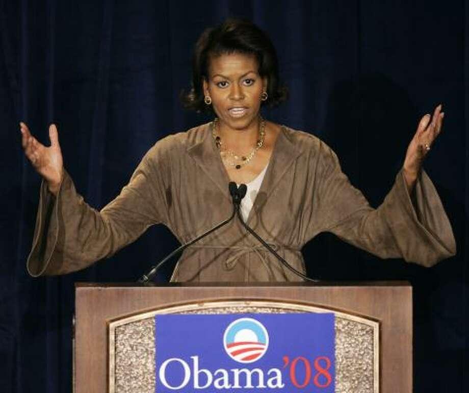 Michelle Obama Photo: Charles Rex Arbogast, Associated Press