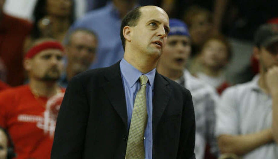 Jeff Van Gundy says he still hasn't decided if he will be back to coach the Rockets next season. Photo: James Nielsen, Chronicle