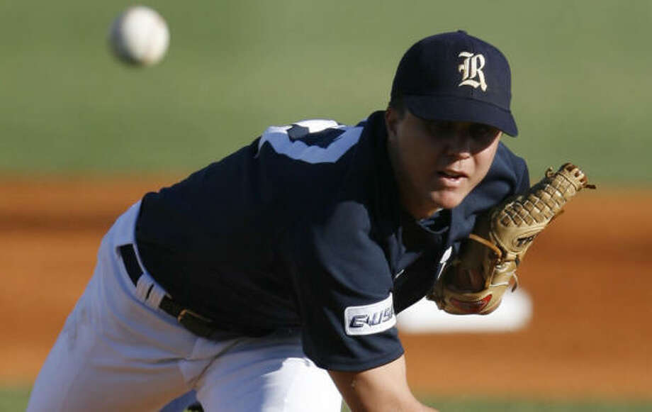 Rice pitcher Mike Ojala (2-0) hadn't started for the Owls since March 20. Photo: Karen Warren, Chronicle File