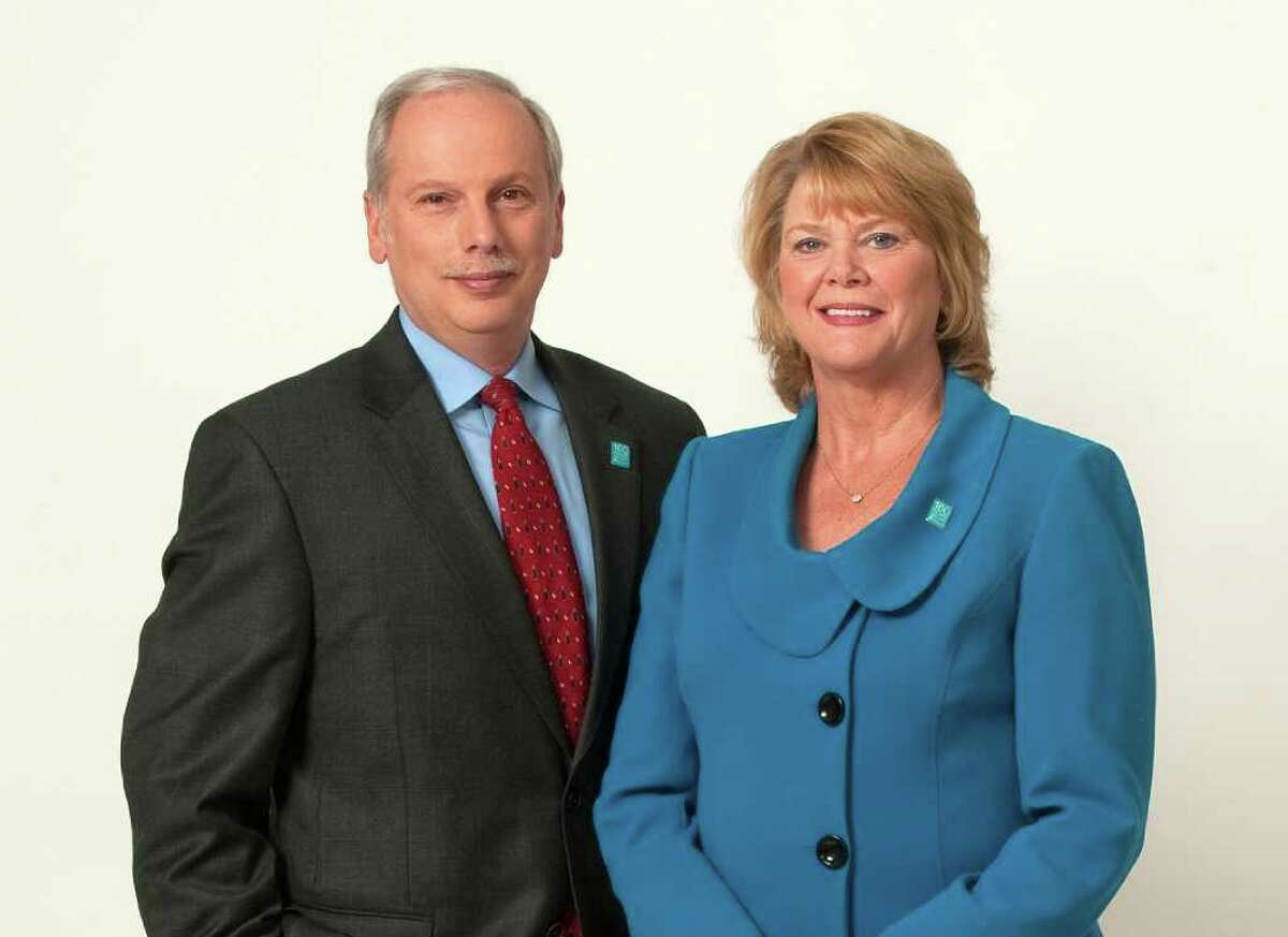 Rey Giallongo has moved into the positions of chief executive officer and chairman of the board of First County Bank in Stamford, and Katherine Harris replaces him as president and chief operating officer.