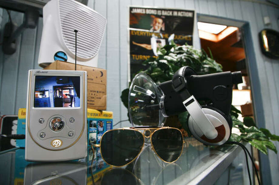 A selection of products on sale at the Spy Emporium on Westheimer. Photo: MICHAEL PAULSEN :, CHRONICLE