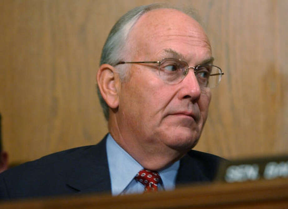 Sen. Larry Craig, R-Idaho, shown at a Senate Environment and Public Works hearing in Washington last week, was arrested by an undercover officer in a sting at an airport bathroom known as a meeting place for anonymous sex. Photo: DENNIS COOK, Associated Press