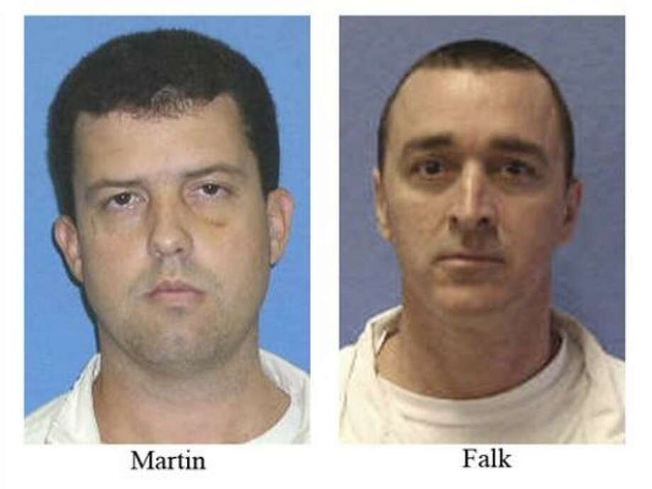Jerry Martin and John Ray Falk escaped from a work detail at the Wynne Unit near Huntsville, Texas on Sept. 24, and were recaptured that day. Photo: Texas Department Of Criminal Justice