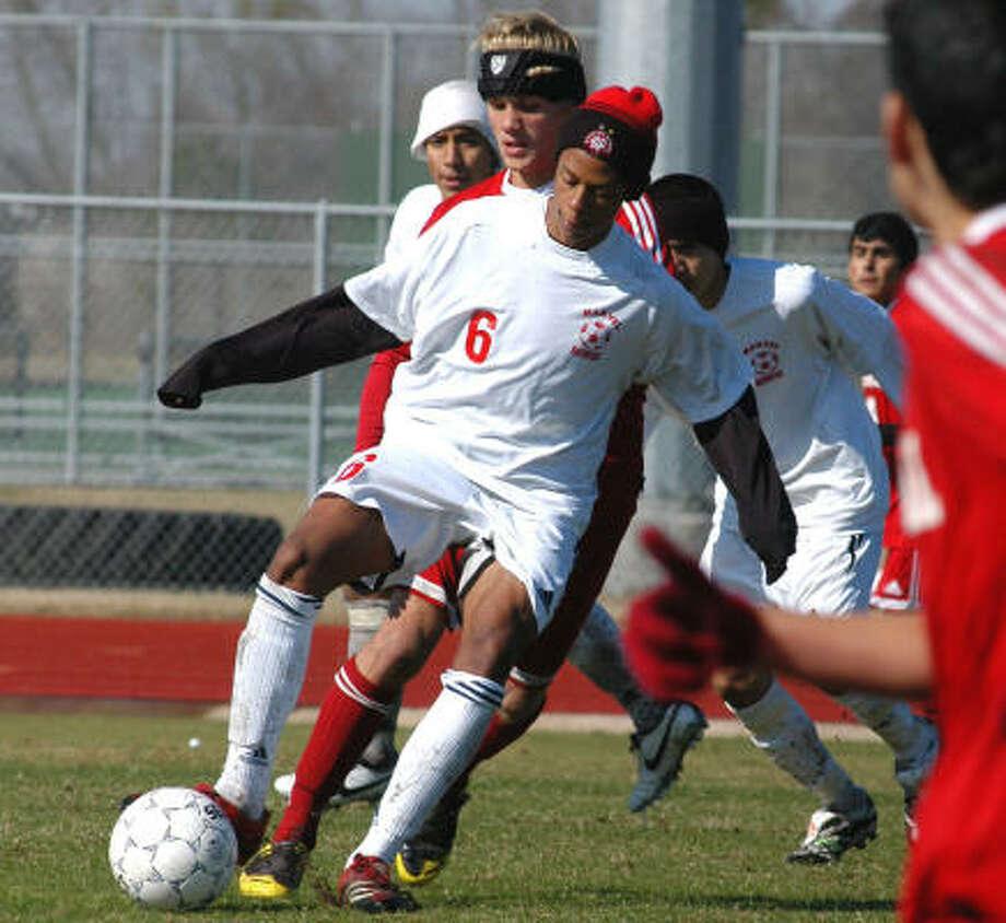 Adekoye Clark and Manvel are enjoying the first season of varsity soccer. Photo: L. Scott Hainline, For The Chronicle