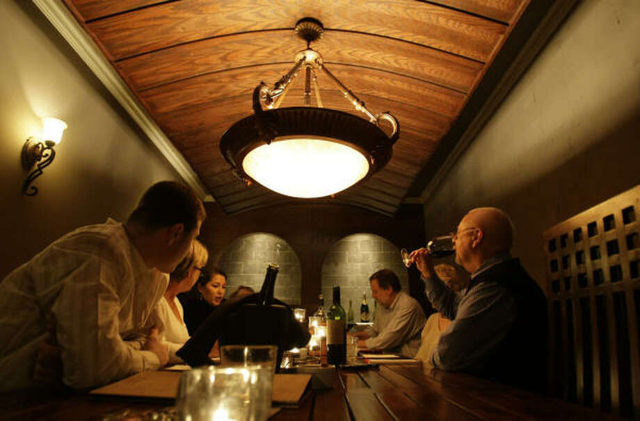 """While Sonoma's main tasting room offers a """"perfect date"""" service, the private room draws groups. Members Britannia Social Club of Houston are among those who've booked it. Photo: Karen Warren, Chronicle"""