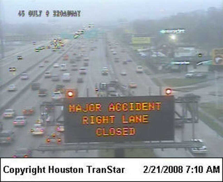 A major accident Thursday morning added to the traffic problems facing commuters.
