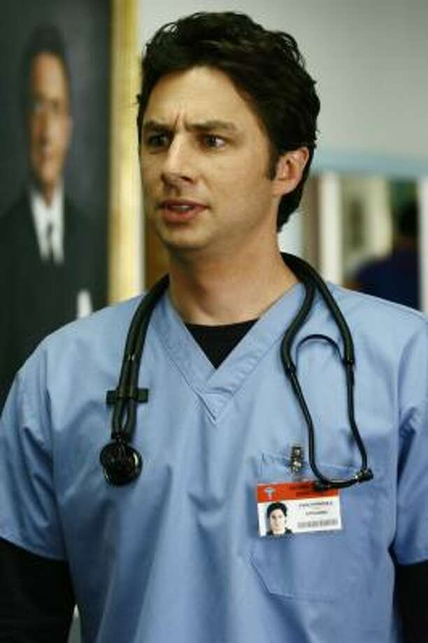 Zach Braff stars as J.D. Dorian in Scrubs. Photo: SCOTT GARFIELD, NBC