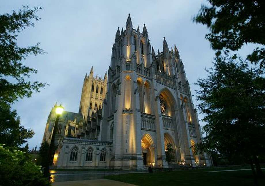 The Washington National Cathedral has been the site of many national memorial services as well as the site for funerals of three presidents. The Episcopal cathedral is experiencing a budget shortfall. Photo: MANUEL BALCE CENETA, ASSOCIATED PRESS