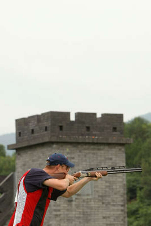 Glenn Eller fired his way to the gold medal in competes in men's double trap shooting. Photo: Nick Laham, Getty Images