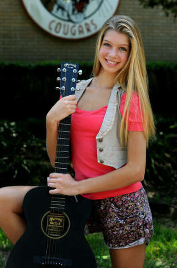Allie DeBerry, 13, an 8th grader at Kingwood Middle School, recently auditioned for and received a part in a television pilot being filmed in The Woodlands. Photo: Jerry Baker