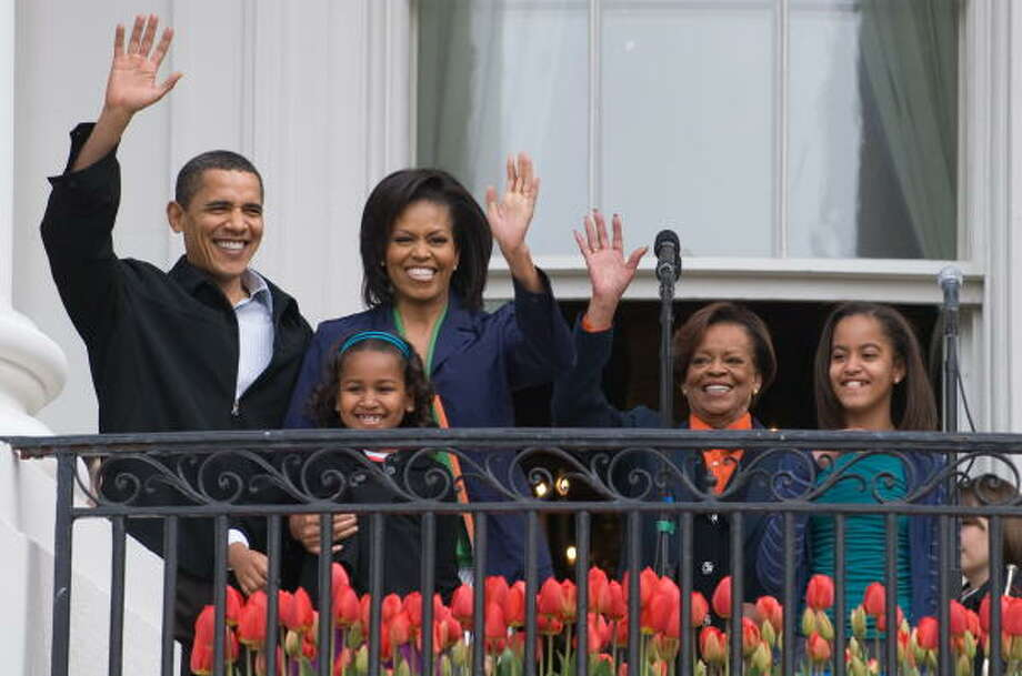Even the first family is in on the mulitigenerational-living arrangement trend. While President Barack Obama was campaigning, Michelle Obama's mother, Marian Robinson, fourth from left, cared for the couple's daughters Sasha, left, and Malia. Robinson now lives in the White House. Photo: SAUL LOEB, AFP | GETTY IMAGES