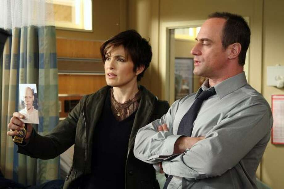 Mariska Hargitay, shown with Christopher Meloni of Law & Order: Special Victims Unit, seems to get an inordinate number of Emmy nominations. Photo: Eric Liebowitz, AP