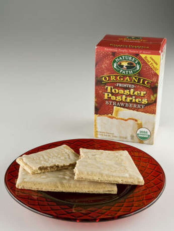 "Nature's Path Toaster Pastries: Parents will love that these ""tarts"" have no artificial ingredients or colors. They cut the fat content by a third, with just 4 grams per pastry. Photo: James Nielsen, Chronicle"