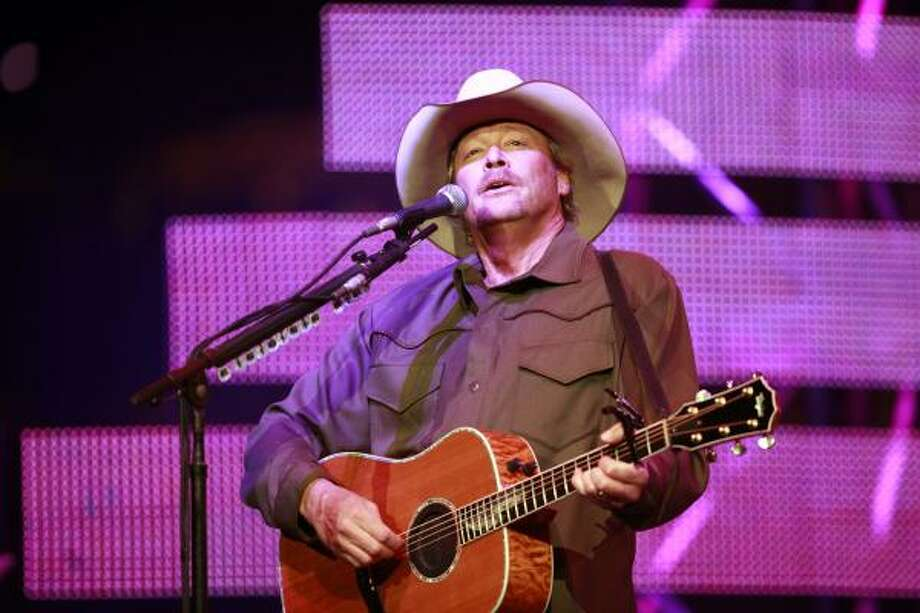 Country singer Alan Jackson gave the rodeo's first concert of the year on Tuesday at Reliant Stadium. Photo: Mayra Beltran, Chronicle