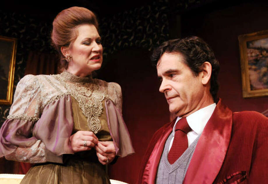 Christy Watkins as Regina and Rick Hodgin as Horace in a scene from Little Foxes. Photo: Dave Rossman, For The Chronicle
