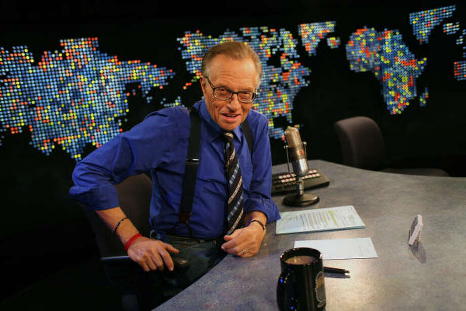 Larry King has been on CNN 25 years. Photo: MONICA ALMEIDA, NYT