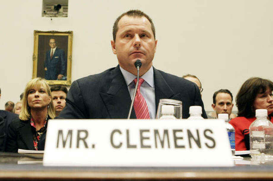 Roger Clemens and his former trainer, Brian McNamee, testified under oath at a hearing before a House committee in February 2008. Photo: Pablo Martinez Monsivais, AP