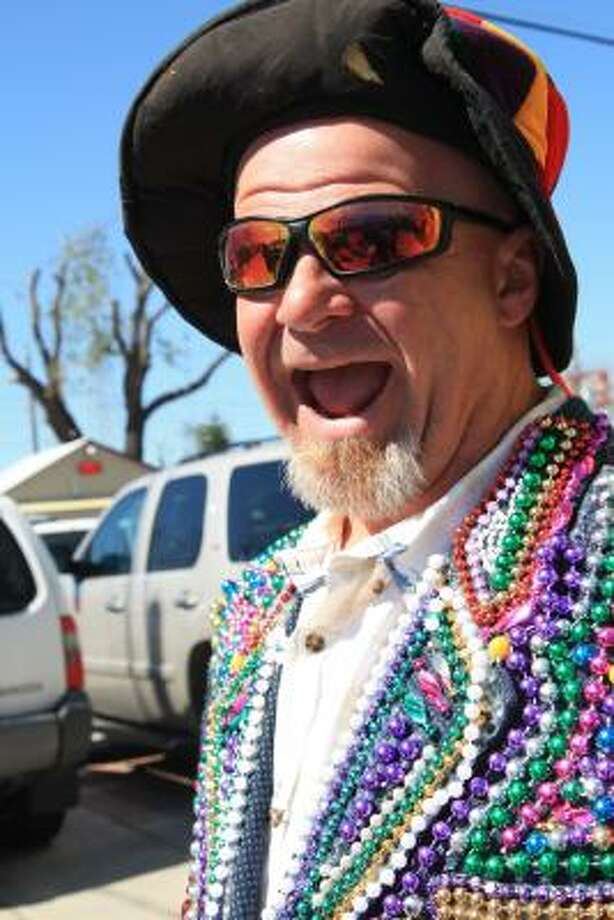 A reveler at last year's event showed his spirit with a beaded jacket. Photo: ANDY ENG, ALL