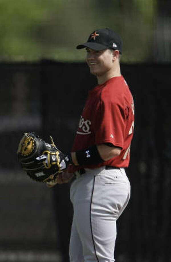 Koby Clemens has been working on a positon change for the third time since being drafted by the Astros. Photo: Karen Warren, Chronicle