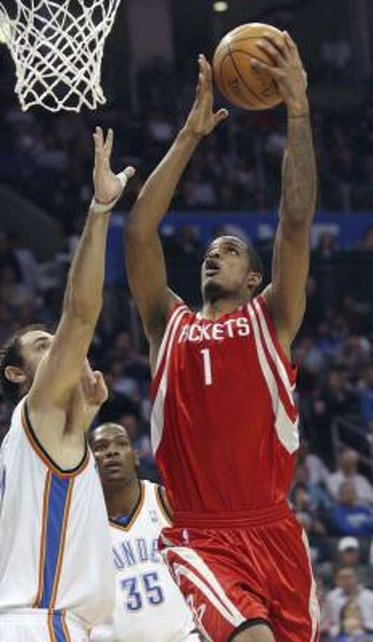 In his past five games, Trevor Ariza has posted improved averages in points, rebounds, assists and steals. Photo: Sue Ogrocki, AP