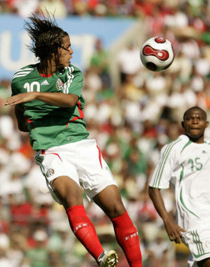 Mexican star striker Giovani dos Santos is the Dynamo's top offseason target. Photo: Guillermo Arias, AP