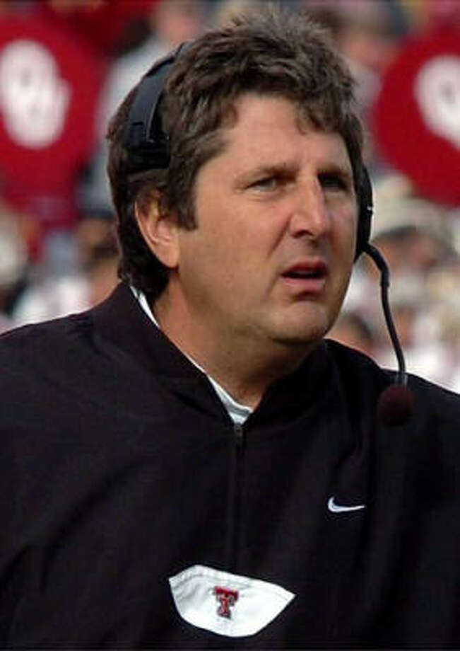 Mike Leach has been suspended pending an investigation into a player complaint. Photo: Texas Tech