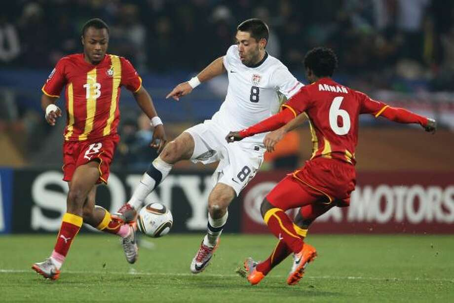 Nacogdoches native Clint Dempsey and the U.S. played entertaining matches but still trail the soccer powers. Photo: Phil Cole, Getty Images