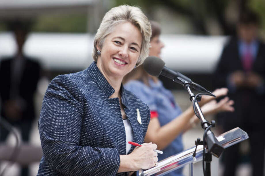Mayor Annise D. Parker lent her support to the effort being spearheaded by the Grand Prix Local Organizing Committee and chairman George DeMontrond. Photo: Chronicle File Photo