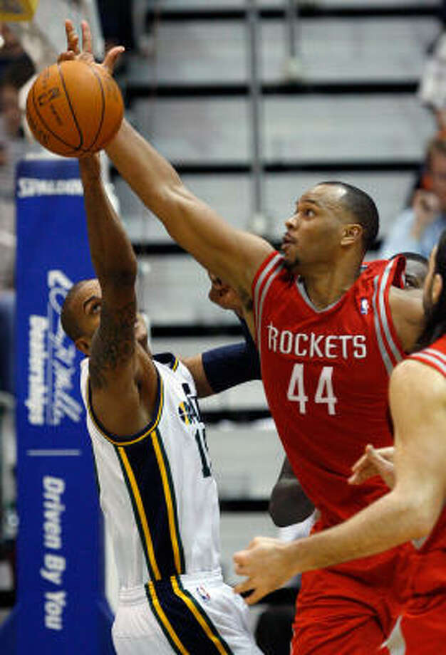 The Rockets snatched a win from the Jazz as the road trip ended. Photo: Steve C Wilson, AP