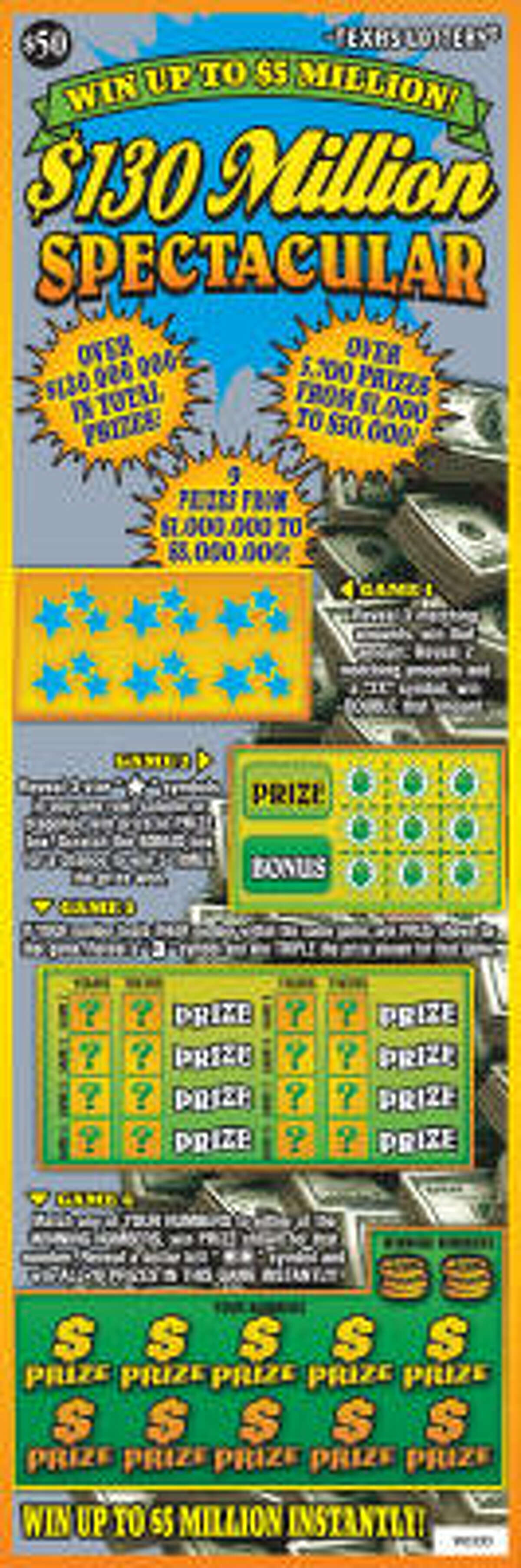 Texas Lottery players can win big, but must belly up $50 to play this new scratch-off game.