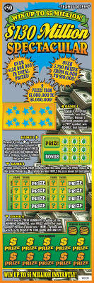 Texas Lottery players can win big, but must belly up $50 to play this new scratch-off game. Photo: Texas Lottery