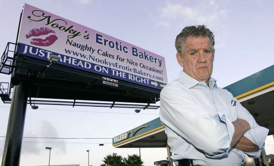 Lawyer Jim Moriarty is helping the city with its billboard enforcement efforts. Photo: CRAIG H. HARTLEY, FOR THE CHRONICLE