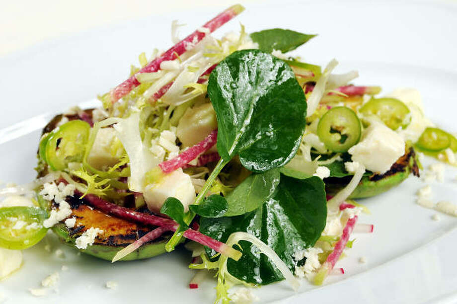 The seared avocado salad at RDG + Bar Annie Photo: Dave Rossman :, For The Chronicle