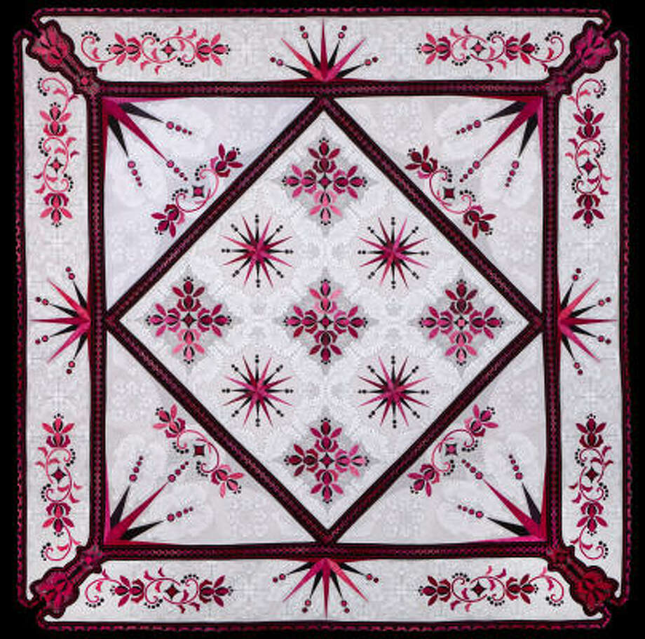 Mystique,the winning quilt from Sharon Schamber, features design elements used for centuries. Photo: International Quilt Festival