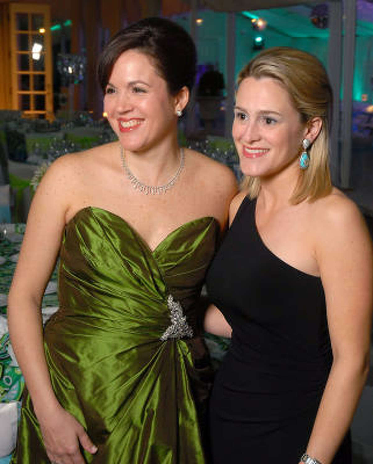 Mary Eliza Shaper, left, and Mary Louise Kinder at the Junior League Charity Ball at the Junior League of Houston.