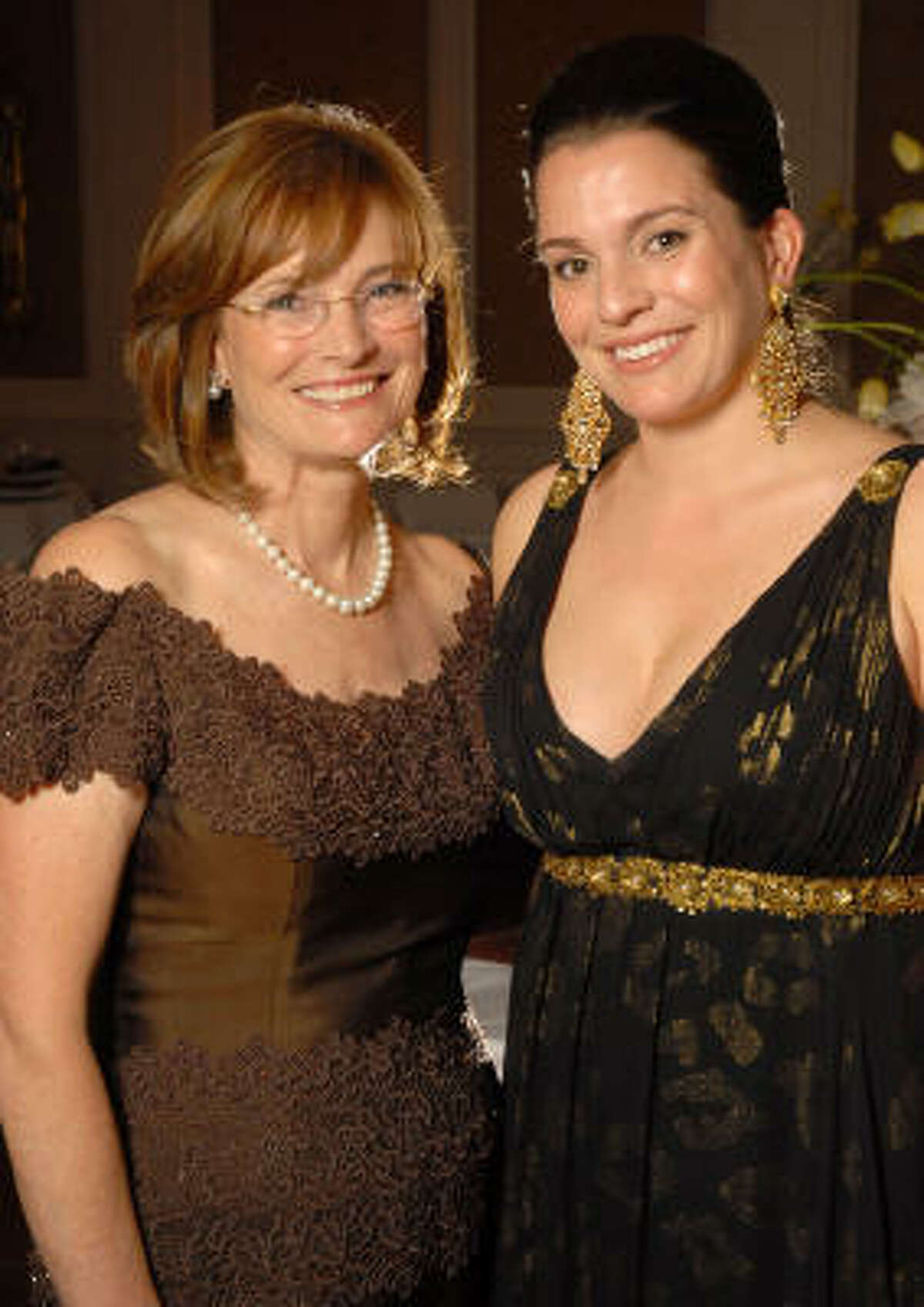 Pearl Ball chairs Bobbie Nau and her daughter Victoria Johnson at the River Oaks Country Club.