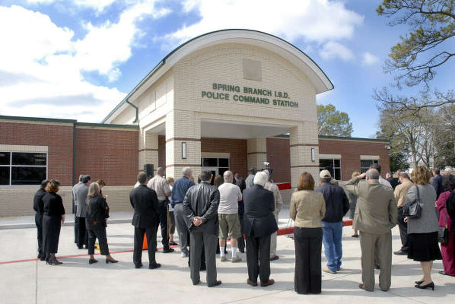 A Crowd Gathers For The March 11 Opening Of New 35 Million Spring Branch ISD