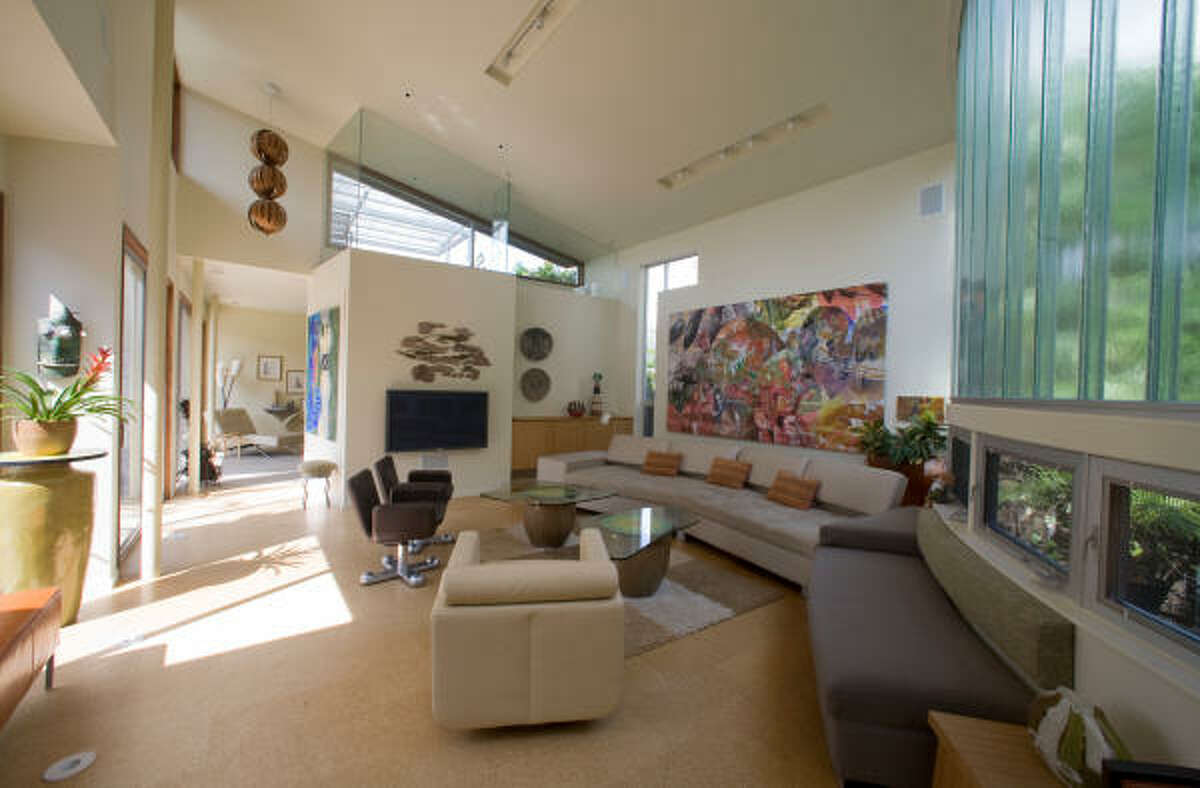 Architect Palmer Schooley's home at 807 Rutland features a large and airy living area.