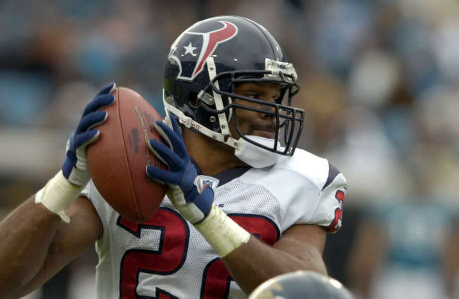 Texans running back Chris Brown says the play had 'looked good in practice'. Photo: Stephen Morton, AP