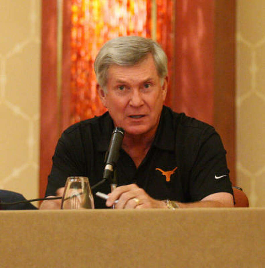 "Mack Brown said 2011 will represent a ""clean slate"" for the Texas football program. Photo: EDWARD A. ORNELAS, San Antonio Express-News"
