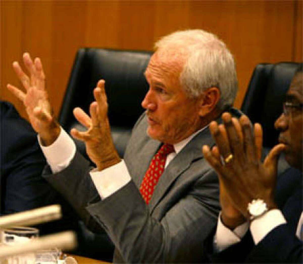 Harris County Commissioner Jerry Eversole at a Commissioners Court meeting Sept. 29, 2009, in Houston.