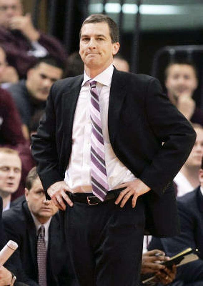 Mark Turgeon led the Aggies to four consecutive NCAA Tournaments. Photo: Nati Harnik, AP