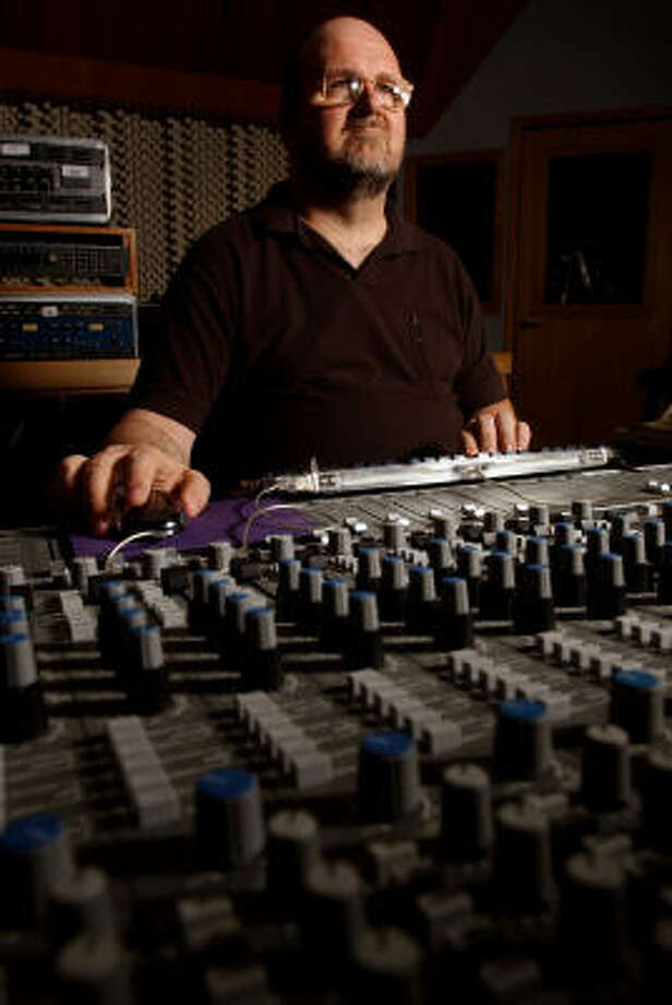 Andy Bradley, SugarHill's chief engineer, conducted more than 90 interviews while writing House of Hits, the story behind the historic Houston recording studio. Photo: CHRONICLE FILE