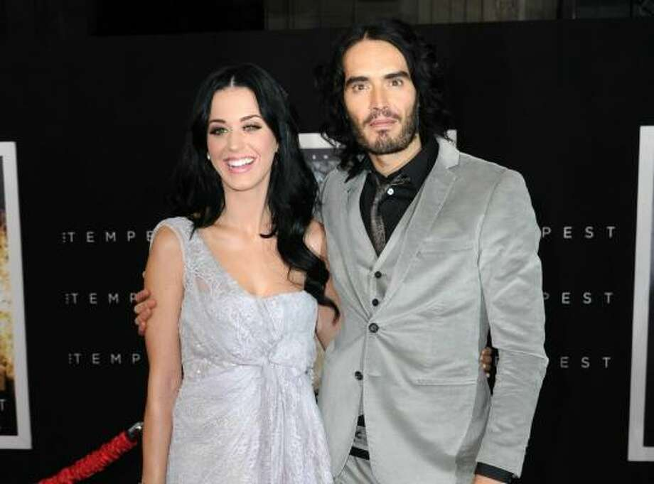 "Katy Perry and Russell Brand met on the set of the film ""Get Him to the Greek."" Photos from the Houston Chronicle"