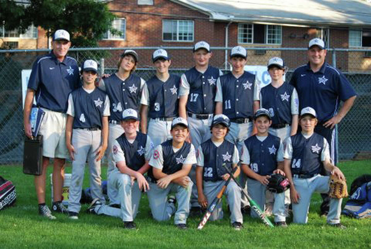 The Westport Little League U-12 All-Star team finished district play at 4-4. Team members, front row, from left, are, Bryan Penwell, Elliott Poulley, Jonathan DeDomenico, Tyler Wincig and Max Richlin. Back row, coach Tom Whelan, Michael Cusa, Ray Niver, Justin Seideman, Ryan Fitton, Mack Muller, Julian Ross and coach Jake Scott.