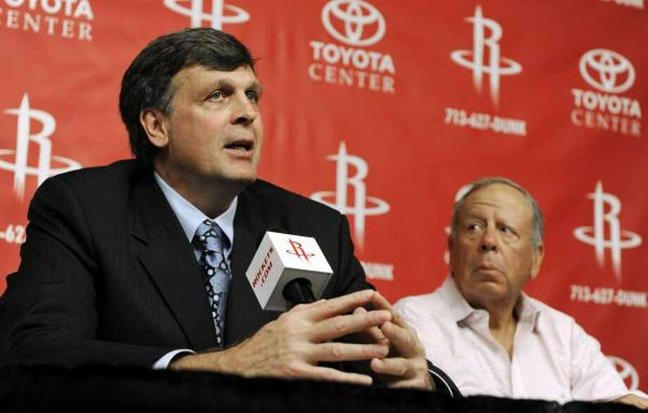 Kevin McHaleYear Before, 2009-2010: 42-40. McHale's First Year, 2011-2012: ?   Kevin McHale was presented as the new Rockets head coach today at a press conference held in the Toyota Center. McHale previously coached the Minnesota Timberwolves in 2005, taking over for Flip Saunders, Minnesota finished at 44-38 and missed the playoffs for the first time in eight years. McHale accumulated a 19-12 record in 2005. During the 2007-2008 season Minnesota fired Randy Whitman and McHale once again took over, he coached into the 2008-2009 season finishing with a 20-43 record before being replaced by Kurt Rambis. Photo: Pat Sullivan, Associated Press