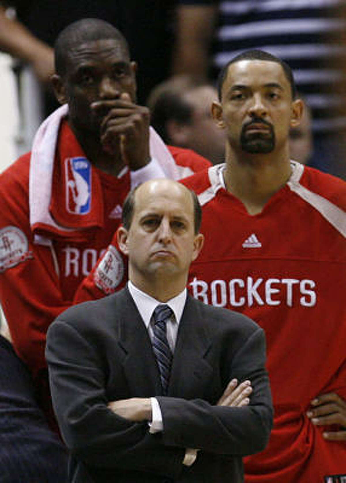 Jeff Van GundyYear Before, 2002-2003: 43-39. Van Gundy's First Year, 2003-2004: 45-37 Jeff Van Gundy became the Rockets head coach in 2003, finishing the 2003-2004 season with a 45-37 record. Van Gundy took the Rockets to the playoffs three out of the four seasons he was the head coach finishing with a 7-12 record in the playoffs.